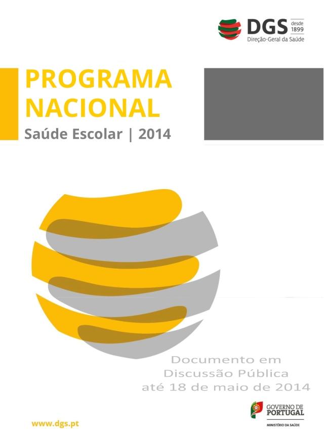 Capa publicação sobre Programa de Saúde Escolar.