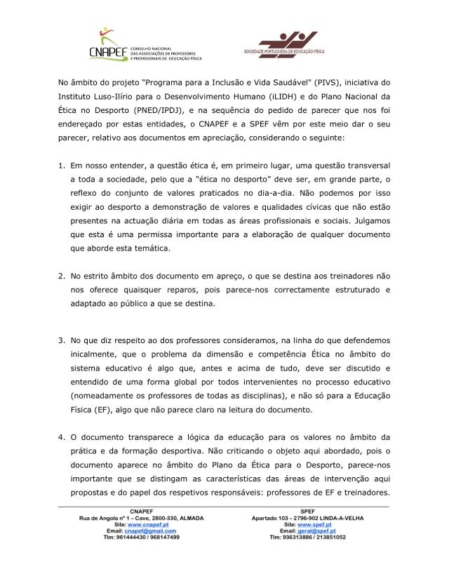 2014-2015 Parecer Fascículos Professor-Treinador 1