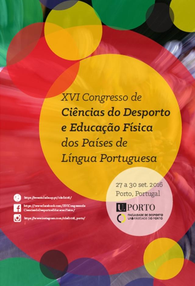 XVI Congresso de Ciências do Desporto e Educação Física dos Países de Língua Portuguesa