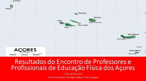 Resultados do Encontro de Professores e Profissionais de Educação Física dos Açores