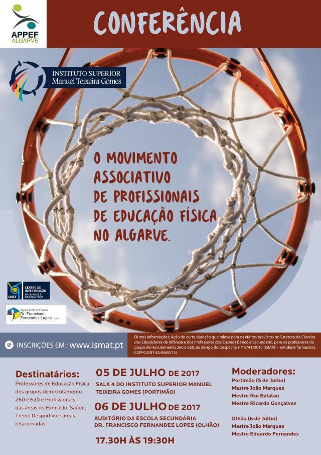 """CONFERÊNCIA """" O Movimento Associativo de Profissionais de Educação Física no Algarve"""