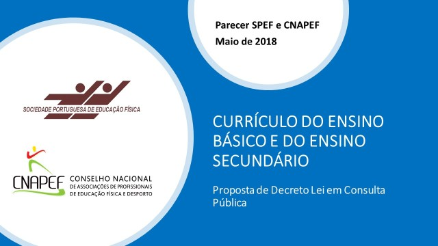 Slide Currículo Parecer SPEF e CNAPEF